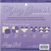 Lazy Girl Designs Flying Geese X 4 No Math Ruler 21cm Square