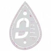 1 Piece Multi-Purpose Round Pattern Ruler, Flexible, Button Holes, Collar Shape etc