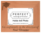 Graduation Gift Graduating Senior Quote Grad Natural Wood Engraved 4x6 Landscape Picture Frame Wood