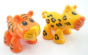 Tiger/cheetah Baby Animal Articulated Play Toy ONE TOY