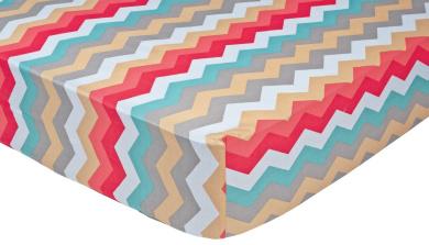 Trend Lab Waverly Pom Pom Play Crib Sheet, Chevron
