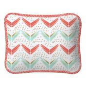 Carousel Designs Coral and Teal Arrow Decorative Pillow Rectangular
