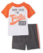 First Impressions Baby Boys' 2-Piece Tee & Shorts Set, 6/9 Months Grey