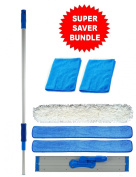 90cm Professional Commercial Microfiber Mop With Three 90cm Microfiber Mop Pads and 2 Bonus Microfiber Towels