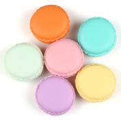 6pcs Assorted Colour 4.5*2cm Colourful Mini Cute Marcaron Pill Storage Earphone Sd Card Case Jewellery Candy Organiser Container Box Carrying Pouch