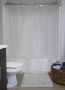 DII Oceanique Supper Soft Luxury 100% Vinyl Shower Liner, Treated with Anti-Mildew to Resist Germs, Bacteria & Mould, 180cm x 180cm , Clear