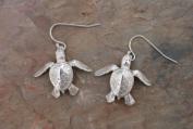Sterling Silver Sea Turtle Hatchling Dangle Earrings Jewellery Earring Ocean Turtles Charms