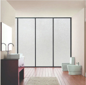Bloss Non-Adhesive Frosted Privacy Window Film, Self Static Adhesive Cling for Home or Office
