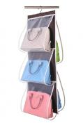 Misslo Hanging Closet Handbag Organiser Purse Holder, Clear