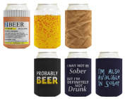 Beer Coolie Drinking Gift Bundle Funny Variety 6 Pack Can Coolie Drink Coolers Coolies Set #3