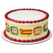 Curious George Edible Designer Cake Border Print