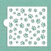 Mini Dog Paws Small Stencil by Designer Stencils