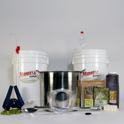 Platinum Pro Homebrew Beer Brewing Starter Kit with Front Porch Pale Ale Beer Recipe Kit and Brew Kettle