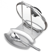 Cook N Home Cook N Home Stainless Steel Spoon and Lid Rest, Stainless Steel