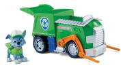 Paw Patrol - Rocky's Recycling Truck- Toy Figure Vehicle- 1 Rocky Figure, 1 Vehicle- Real Working Wheels- Pivoting Forklift- Rear Compartment