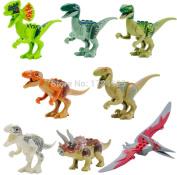 Jurassic World Dinosaur Figures - 8pcs/Set and Lego compatible