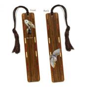 Barn Owl - Owl - Bird - Wooden Bookmark with Tassel