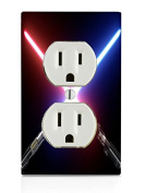 Crossed Blades Electrical Outlet Plate