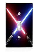 Crossed Blades Light Switch Plate