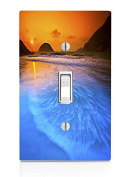 Sunset over water Light Switch Plate