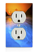Sunset over water Electrical Outlet Plate