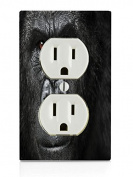 Gorilla Face Electrical Outlet Plate