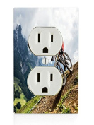 Downhill Biking Electrical Outlet Plate