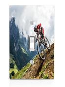 Downhill Biking Light Switch Plate