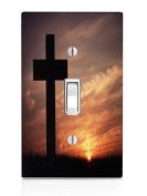 Cross Sunset Light Switch Plate