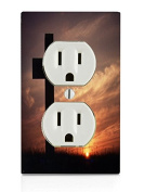 Cross Sunset Electrical Outlet Plate