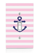Cute Anchor Light Switch Plate
