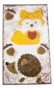 Fall Harvest Reusable Gel Window Clings ~ Fox, Hedgehog, Acorns