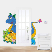 Fange DIY Removable Cartoon Dinosaur MOM and Baby Art Mural Vinyl Waterproof Wall Stickers Kids Room Decor Nursery Decal Sticker Wallpaper 90cm x 60cm