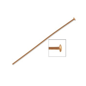 Head Pin 3.8cm 24 Gauge Rose Gold Filled