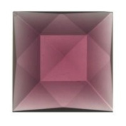 Stained Glass Jewels - 30mm Square Faceted - Amethyst