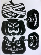 Halloween Window Cling Set of 5 Pumpkin/Jackolanterns Version 1