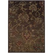 Oriental Weavers 54C Allure Area Rug, 1.5m by 2.1m, Brown/Green
