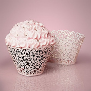 Cupcake Wrappers - 50ea - 50ea - 2 X 2 Off White Lace Cupcake Wrapper