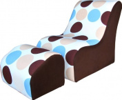 Fantasy Furniture Modern TV Chair, Blue Bubbles