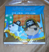 Little Boy Pirate Themed Plastic Tablecover - 140cm x 210cm