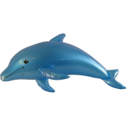 100cm Inflatable Coloured Dolphin Prop Decoration-Blue