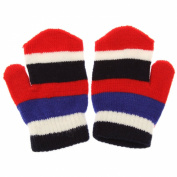 Kids Mittens ** FREE UK POST** Children Magic Mitts Striped One Size Fits All Quality Winter Value Kids Gloves