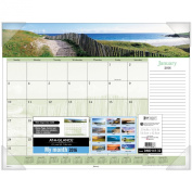 AT-A-GLANCE Monthly Desk Pad Calendar 2016, Images of the Sea Panoramic, 50cm x 43cm