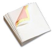 OfficeMax Continuous Computer Form Paper, 23cm - 1.3cm W X 28cm L, 3 Part Colour Carbonless Paper (white, canary, pink), Blank,