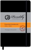 1 X Piccadilly Essential Notebook - Black - Small