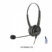 Dual Ear Call Centre Headset for Nortel Meridian NorStar Business Phones