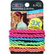 Scunci Everyday and Active Strand Elastics 6-Count