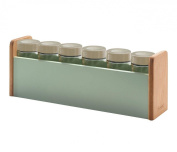 Typhoon Americana Wooden Spice Rack & 6 Spice Jars - 1400.847