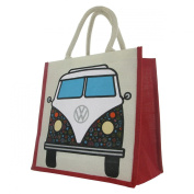 Officially Licenced Volkswagen VW Campervan Juco Eco Friendly Reusable Shopper - Bag For Life - Purple Floral