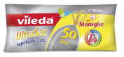 Vileda 124309 UltraSac Rubbish Bags Extra Strong 50 Litres with Handles
